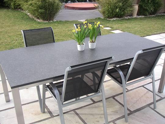 Granit Gartentisch Gartentisch Rumina Rechteckig Granit Belardo